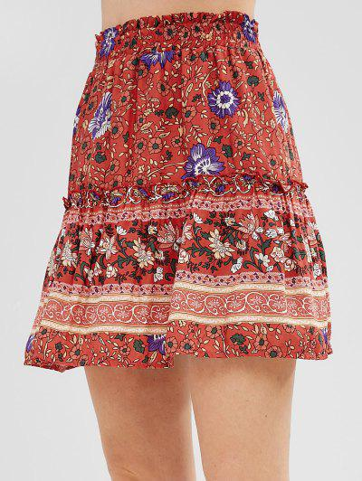12aac5962 2019 Red Floral Skirt Online | Up To 66% Off | ZAFUL