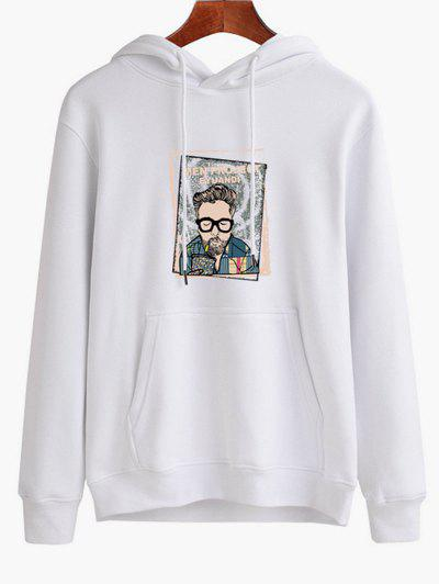333ece5a297 Men Graphic Print Casual Hoodie - White Xs