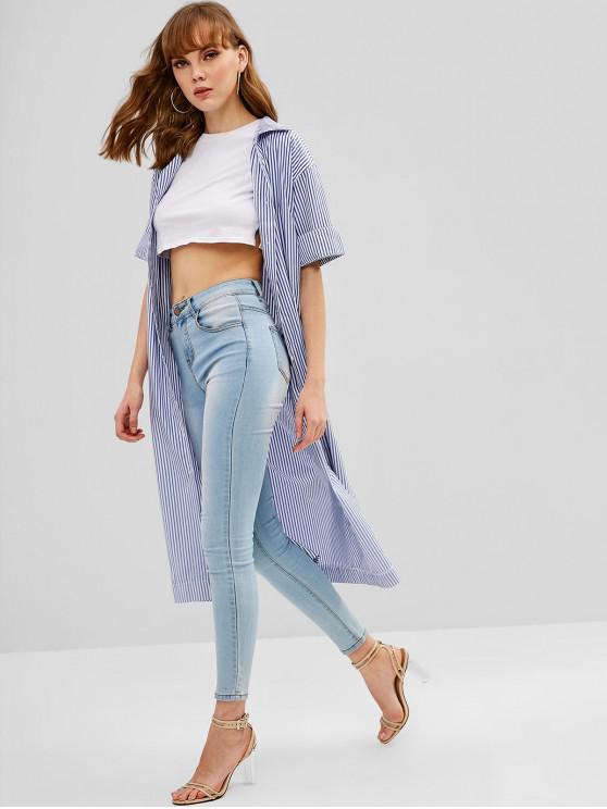 e58aaace 56% OFF] 2019 Striped Midi Shirt Dress In MULTI | ZAFUL