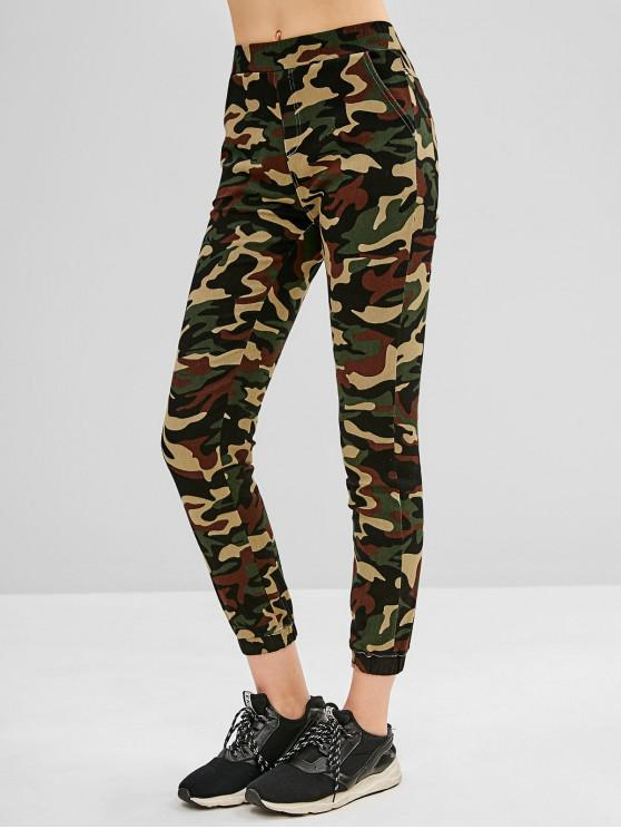 womens Camouflage Ninth Jogger Pants - ACU CAMOUFLAGE L
