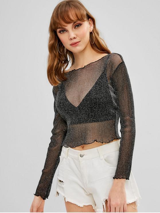 T shirt Court Transparent BrillantNoir S RA5jL4