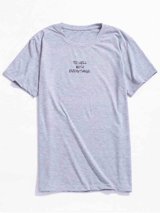 PARA EL INFIERNO CON TODO Camiseta gráfica de manga corta - Gris S