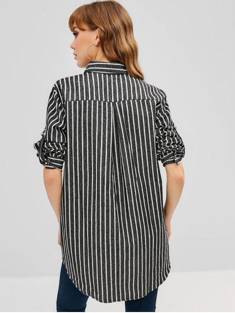 womens Striped Oversized Shirt - MULTI ONE SIZE Mobile