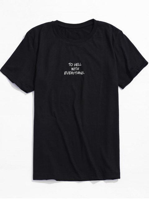 PARA EL INFIERNO CON TODO Camiseta gráfica de manga corta - Negro M Mobile