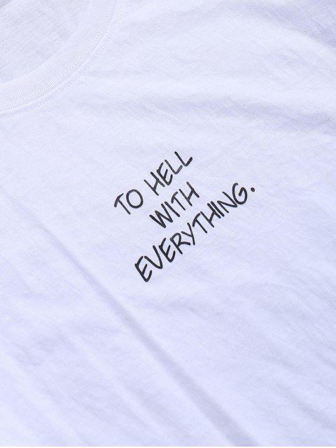PARA EL INFIERNO CON TODO Camiseta gráfica de manga corta - Blanco L Mobile