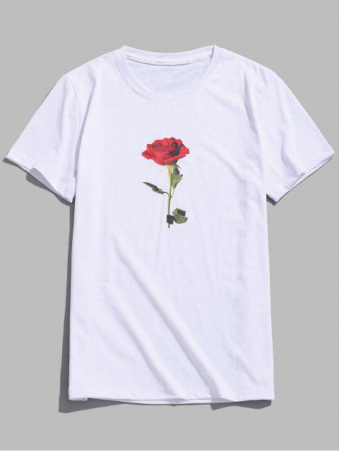 Top de día de San Valentín de manga corta rosa - Blanco XS Mobile