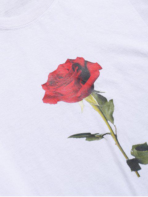 Top Floreale con Maniche Corte per San Valentino - Bianca S Mobile