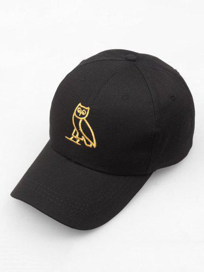 Night Owl Embroidery Sport Baseball Cap - Black ... 88ff03ee9b80