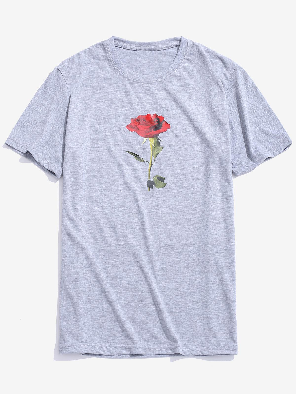 Rose Short Sleeves Valentine Day Top фото