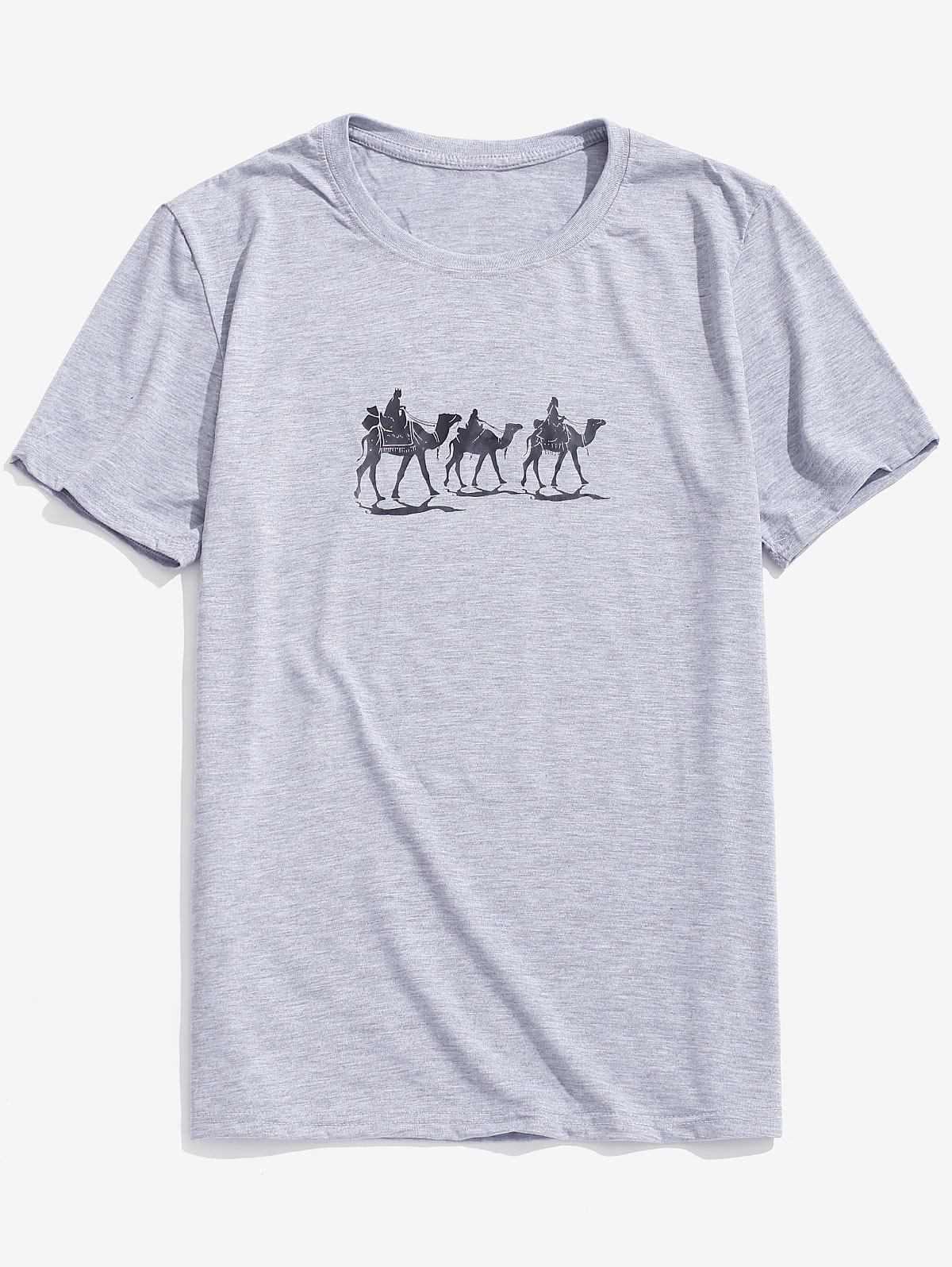 Animal Print Short Sleeves Tee