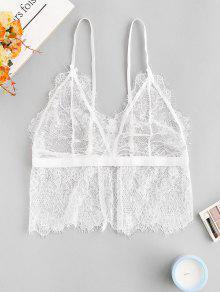 الرباط صدفي رمش الملابس الداخلية الصدرية - أبيض S