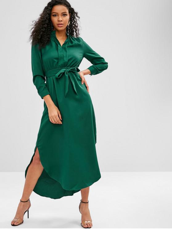 fa43c976e423f Long Sleeve High Low Slit Maxi Dress
