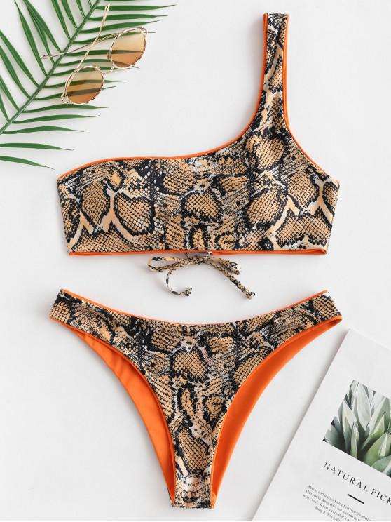 ZAFUL Schlangenleder -Reversibeles Bikini -Set - Mango Orange S