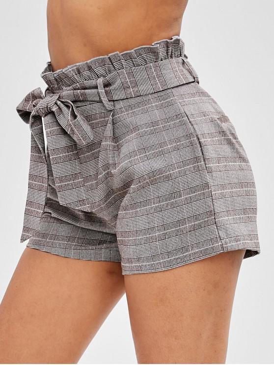 ZAFUL шорты с поясом и оборками - Многоцветный XL