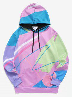Painting Print Casual Pullover Hoodie - Multi 2xl