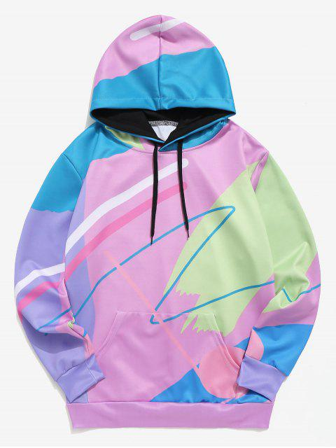 hot Painting Print Casual Pullover Hoodie - MULTI 2XL Mobile