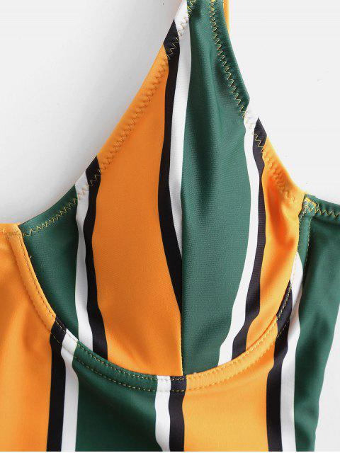 Costume da Bagno a Righe Colorate con Ferretto di ZAFUL - Multi Colori-A M Mobile