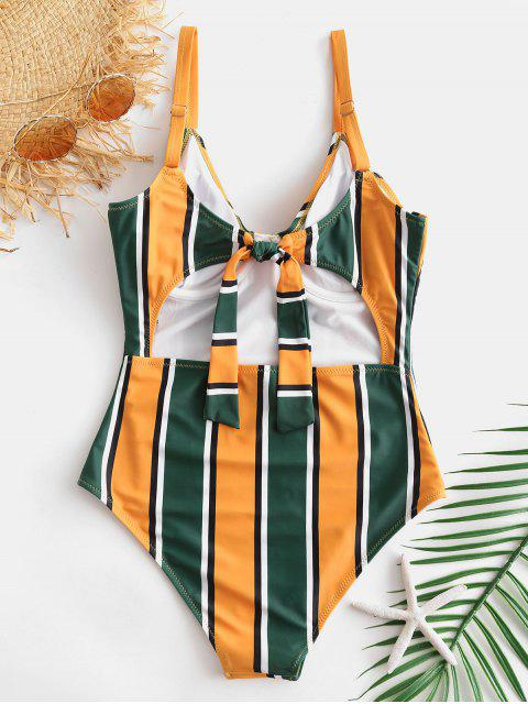 affordable ZAFUL Colorful Striped Underwire Swimsuit - MULTI-A XL Mobile