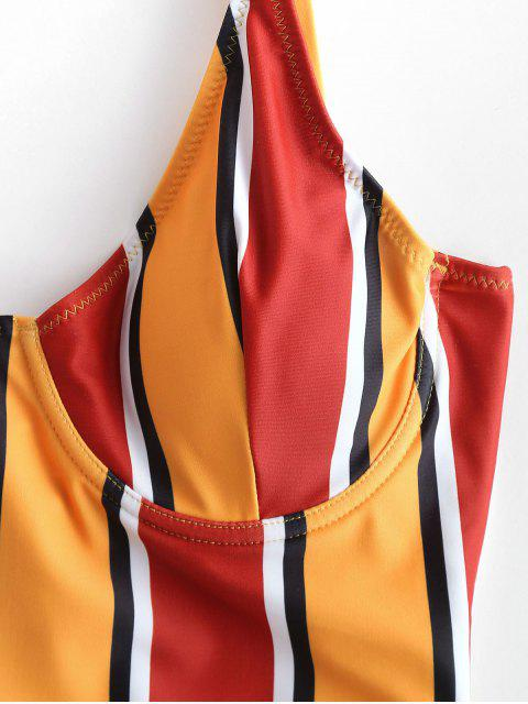 ZAFUL colorido traje de baño a rayas con aro - Multicolor-B M Mobile