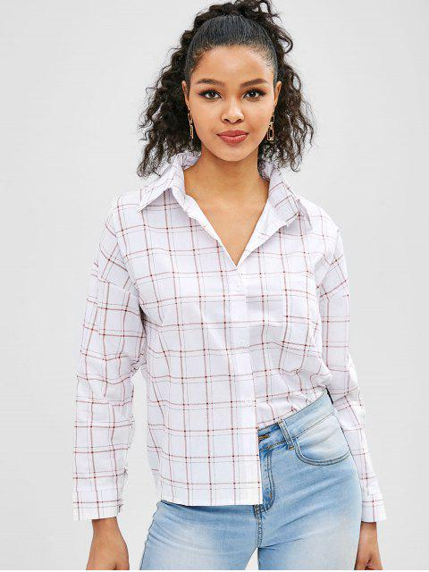 sale Plaid Casual Shirt - MULTI ONE SIZE Mobile