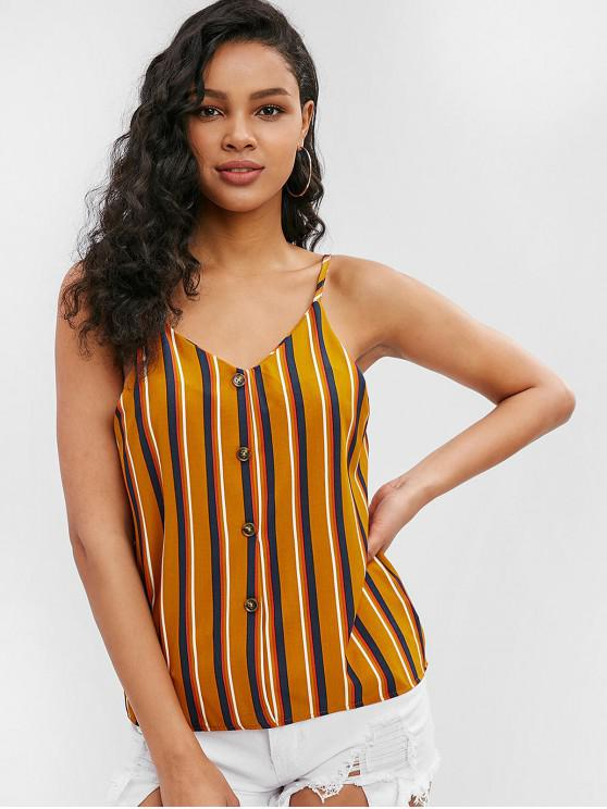 best Adjusted Strap Striped Cami Top - BEE YELLOW M