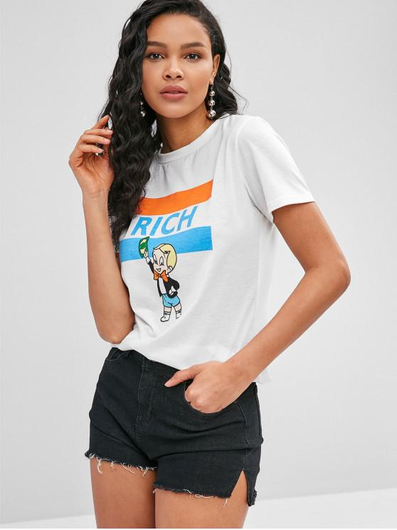 shops Short Sleeve Rich Character Graphic Tee - WHITE S