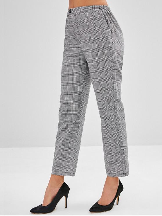 latest Checkered Straight Leg Pants - MULTI-A L
