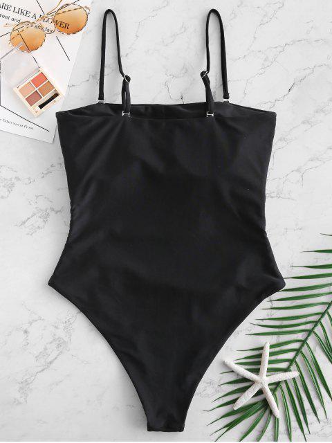 ZAFUL Cut Out traje de baño de Criss Cross Cami - Negro XL Mobile
