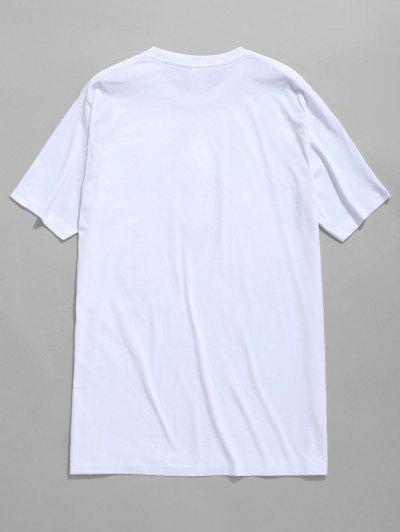 Painting Flowers Print T-shirt, White