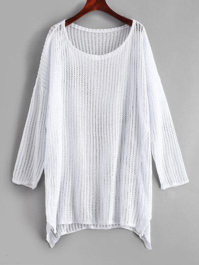 Crochet Tunic Top - White