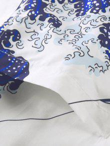 Ocean Wave Sun Print Kimono Cardigan