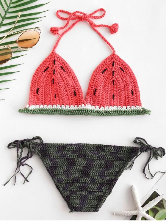 Ensemble de Bikini au Crochet Pastèque - Multi-A Taille Unique