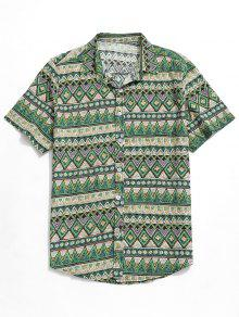 قميص بلون مغاير - أخضر L