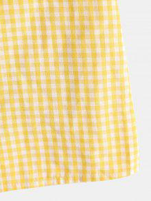 4add62e44cc5 45% OFF] 2019 ZAFUL Puff Sleeves Gingham Top And Skirt Set In CORN ...