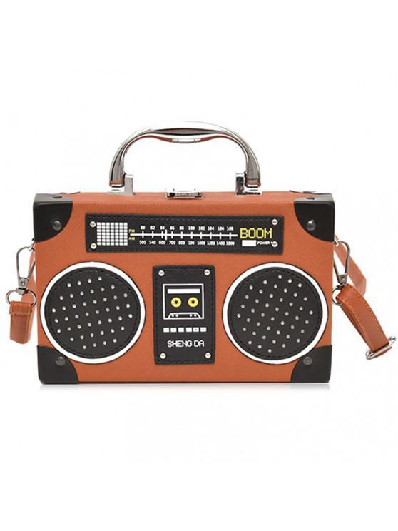 Forma Bolsa Radio Crossbody De Leather Faux yf7gYb6