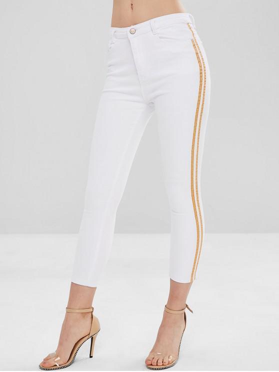 بنطال جينز سكيني - أبيض M