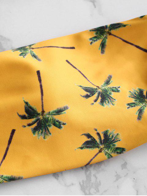 shop ZAFUL Coconut Palm Hawaii Bikini Set - BEE YELLOW M Mobile
