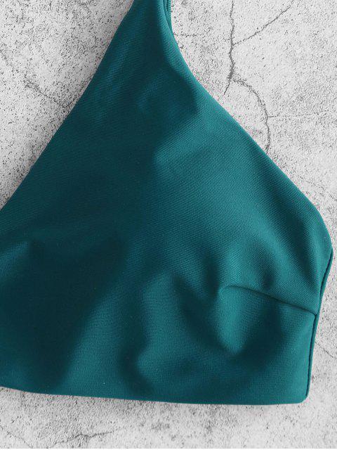 Bikini con estampado de hojas ZAFUL - Azul Eléctrico M Mobile