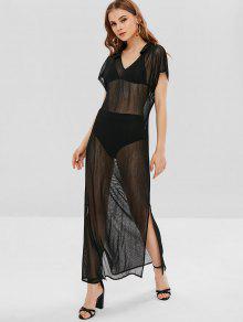 281085be1845f9 47% RABATT] 2019 Siehe Durchgeschlitztes Maxi-Poncho-Kleid In ...