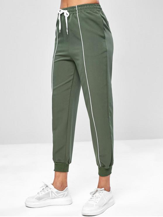 Pantaloni Da Jogging Casuali Con Coulisse - Verde Camouflage  M