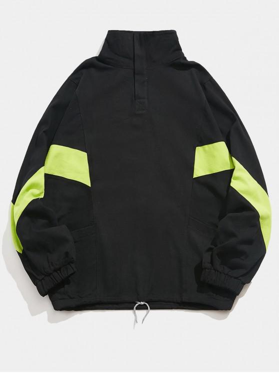 ladies Raglan Sleeves Letters Print Casual Sweatshirt - BLACK 2XL
