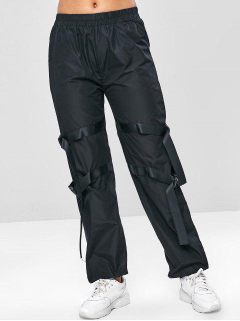 Joggerhose mit Schnalle und Mittlerer Taille - Schwarz M Mobile