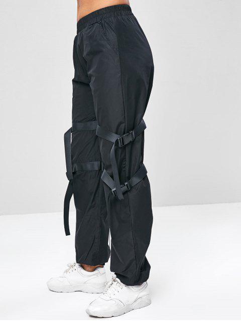 Joggerhose mit Schnalle und Mittlerer Taille - Schwarz S Mobile