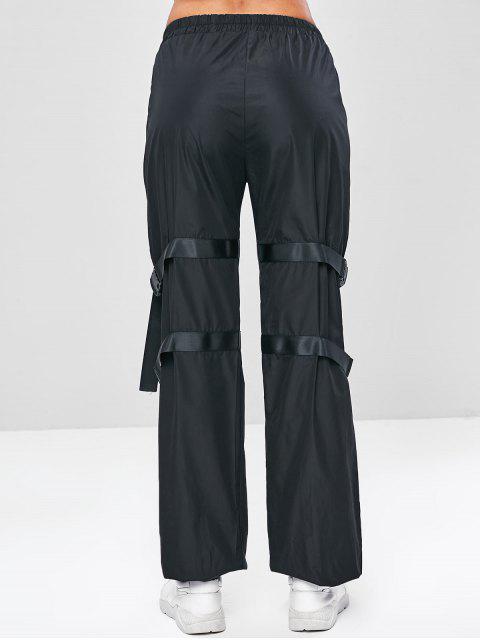 Joggerhose mit Schnalle und Mittlerer Taille - Schwarz L Mobile