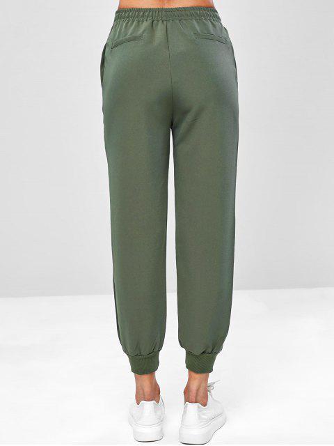 Pantalones de jogger con cordón casual - Verde Camuflaje L Mobile
