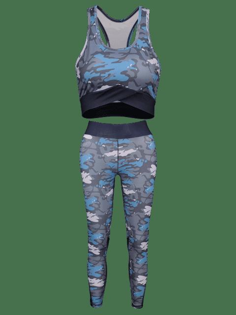 Camouflage- Racerback -Yoga- Turnanzüge - ACU Tarnanstrich S Mobile