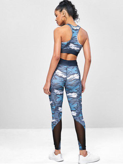 Camouflage- Racerback -Yoga- Turnanzüge - ACU Tarnanstrich M Mobile