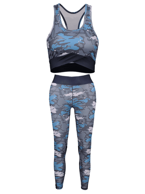 Camouflage- Racerback -Yoga- Turnanzüge - ACU Tarnanstrich L Mobile
