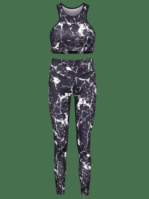 Spritzer Farbe -Racerback- Yoga-Sportanzüge - Schwarz S Mobile