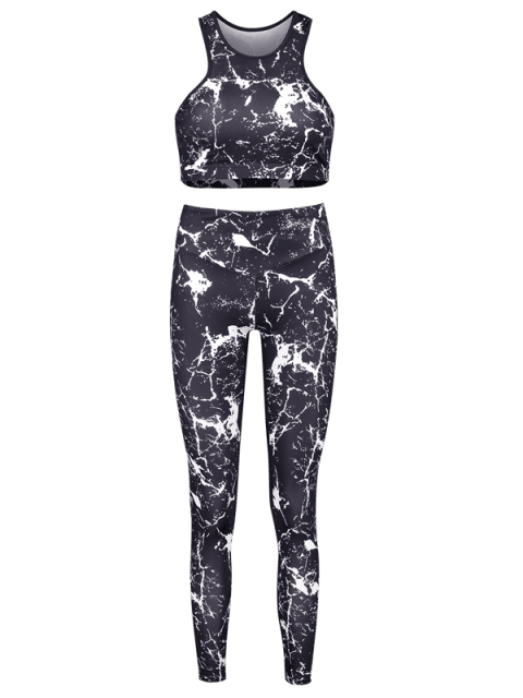 Spritzer Farbe -Racerback- Yoga-Sportanzüge - Schwarz M Mobile